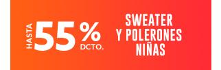 SWEATER Y POLERONES NIÑAS HASTA 65% DCTO