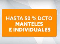 MANTELES E INDIVIDUALES Hasta 60% dcto hites.com
