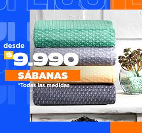 SÁBANAS Desde $8.990