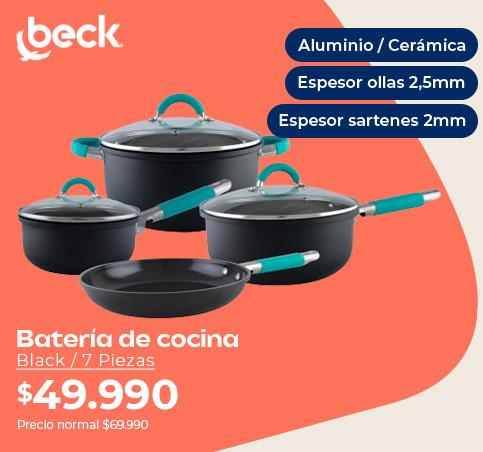 Batería de cocina  Black / 7 Piezas
