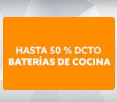 BATERÍAS DE COCINA Hasta 50% dcto hites.com