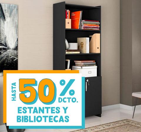 Estantes y Bibliotecas HASTA 50% DCTO