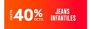 JEANS INFANTILES HASTA 40% DCTO