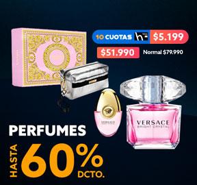 PERFUMES HASTA 60% DCTO