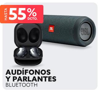 AUDÍFONOS Y PARLANTES BLUETOOTH Hasta 70% dcto.