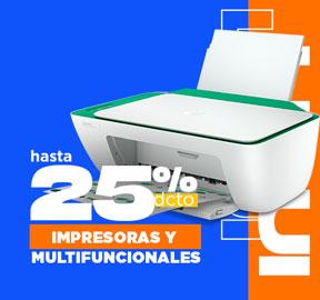 IMPRESORAS Y  MULTIFUNCIONALES Hasta 30% dcto