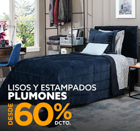 LISOS Y ESTAMPADOS PLUMONES DESDE 50% DCTO
