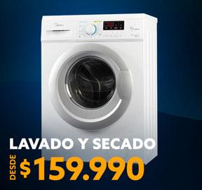 LAVADO Y SECADO DESDE 159.990