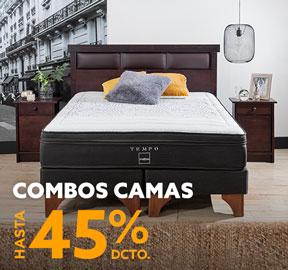 COMBOS CAMAS HASTA 45% DCTO