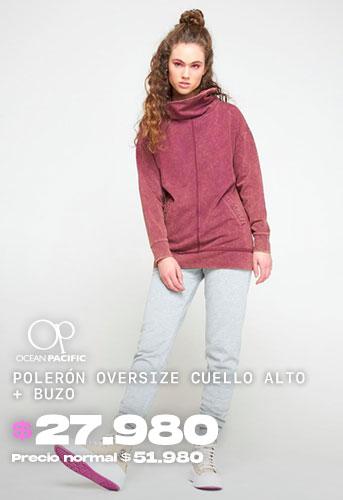 POLERÓN OVERSIZE CUELLO ALTO  + BUZO