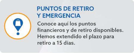 Puntos de retiro y emergencia