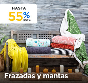 FRAZADAS Y MANTAS HASTA 50% DCTO en hites.com