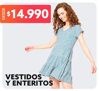 VESTIDOS Y ENTERITOS Desde $14.990