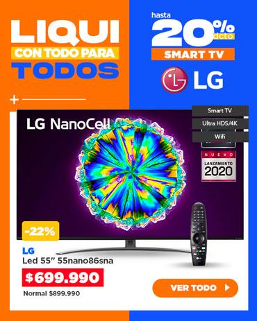 Especial liqui SMART TV LG en hites.com