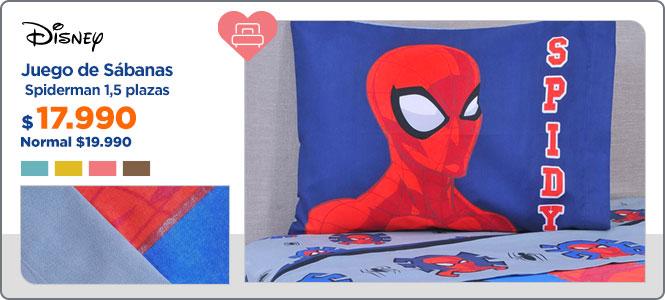 Plumón Spiderman  1,5 plazas