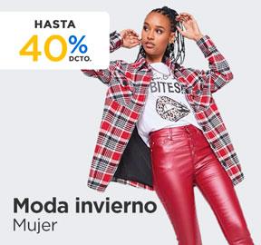 MODA INVIERNO MUJER HASTA 40% DCTO
