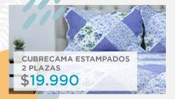Cubrecama estampados 2 plazas $ 19.990 en hites.com