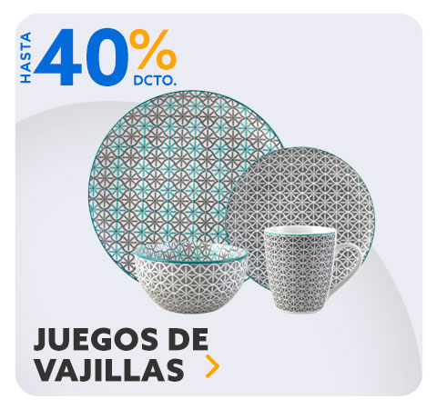 JUEGOS DE VAJILLA HASTA 40% DCTO en Hites.com