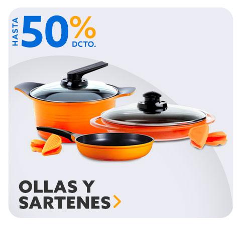 OLLAS Y SARTENES HASTA 50% DCTO en Hites.com