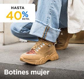 BOTINES MUJER HASTA 40% DCTO