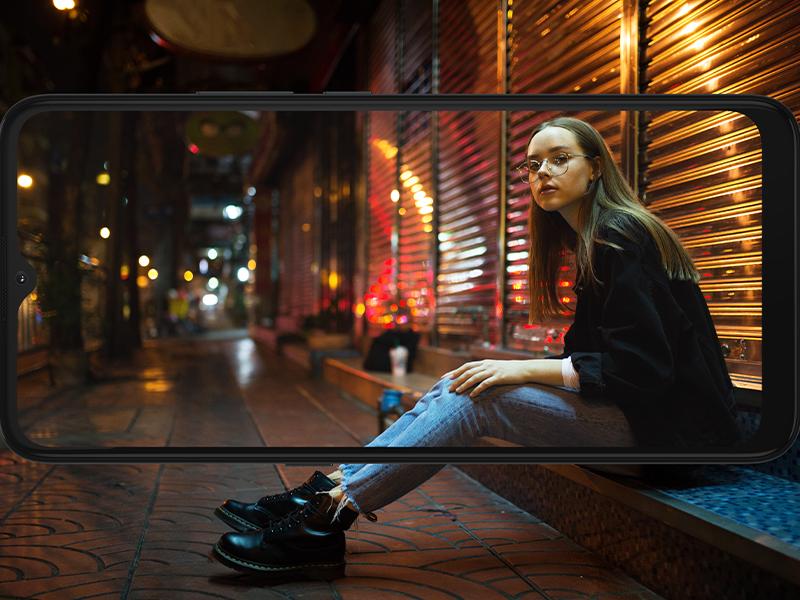 smartphone moto e7, modo night vision