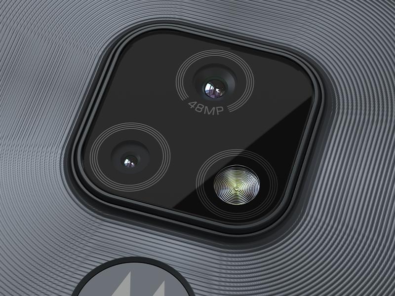 smartphone moto e7, cámara de 48MP